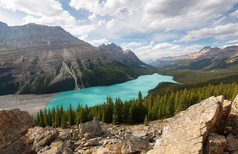 канада, банф, джаспер, озера Лазурные озера западной Канадыphoto preview