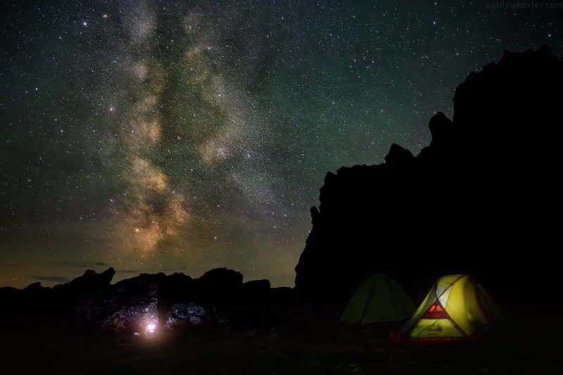 ночь, урал Уютная ночь в Уральских горахphoto preview