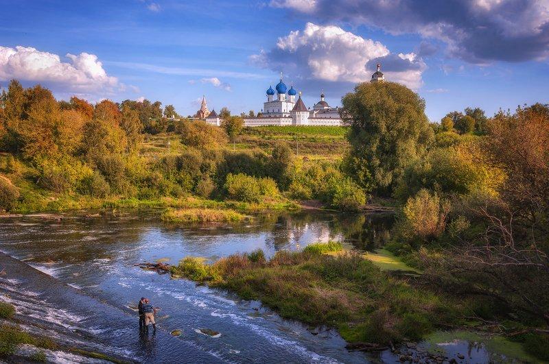 облака,плотина,река,рыбаки,осень,подмосковье,серпухов,монастырь Сказочный день!photo preview