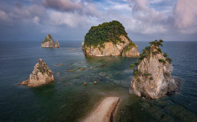 приморский край море солнце рассвет владивосток заповедник скалы ***photo preview