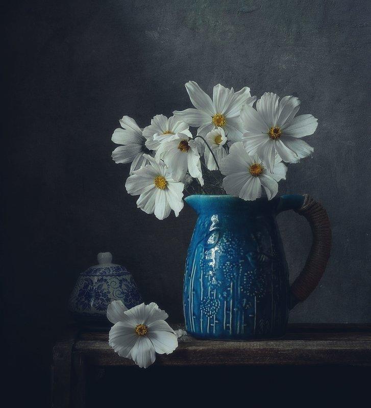 натюрморт,still life,цветы,космея с космеей... фото превью
