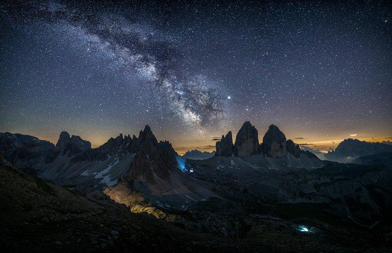 @night, @longexposuer, @landscape @dolomites Tre Cimephoto preview