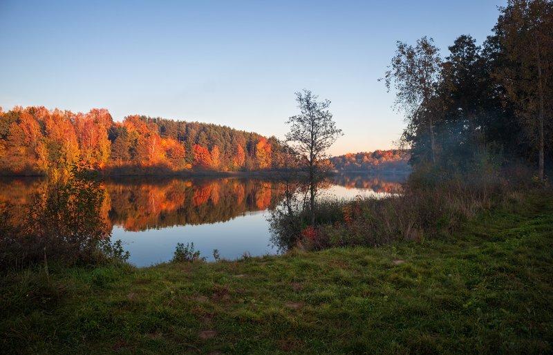 осень, озеро, вечер, Октябрьский вечерphoto preview