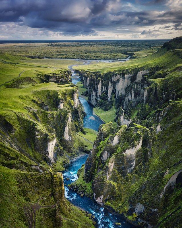 islandia, iceland, исландия, fjaðrárgljúfur, фьядрарглйуфур Каньон \