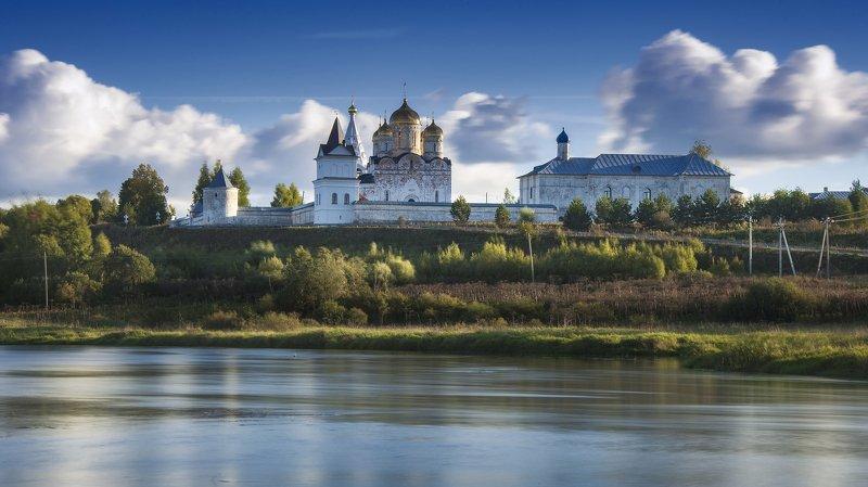 облака,река,сень,подмосковье,можайск,монастырь ***photo preview