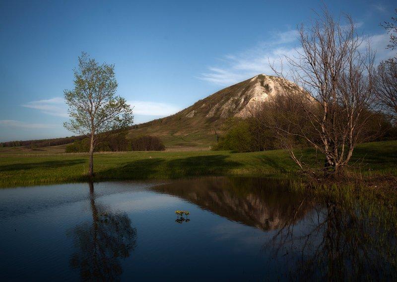 пейзаж,гора,весна,озеро,деревья У подножия Торатауphoto preview