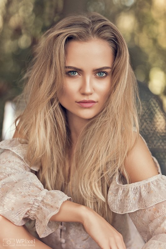 portrait women eyes blonde women by wpixel (More Than Beauty)photo preview