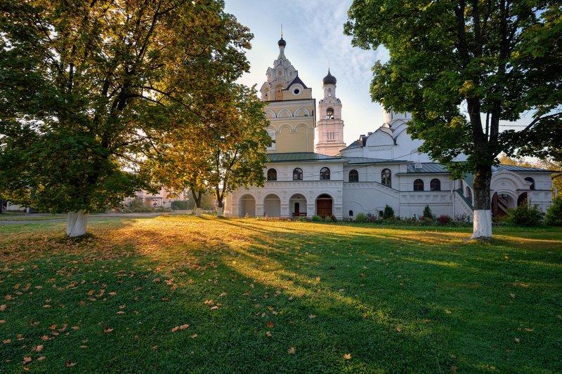утро,рассвет,солнце,лучи,монастырь,киржач монастырское утроphoto preview