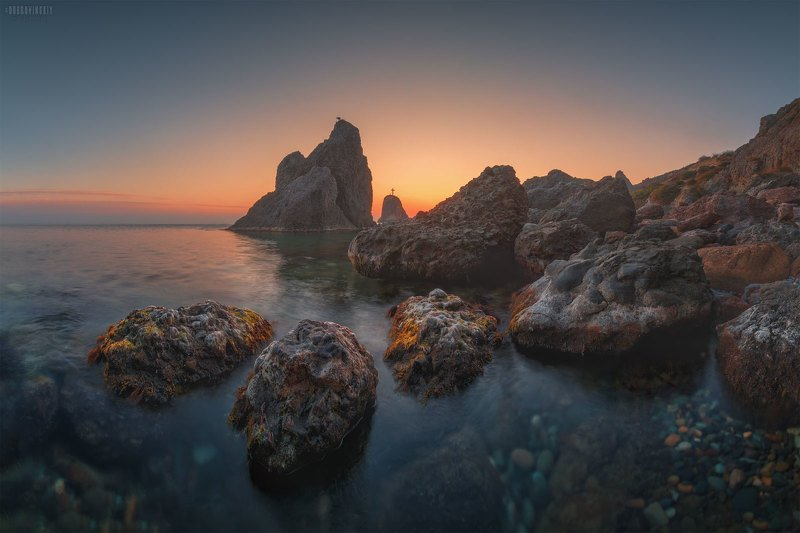 крым, фиолент, георгиевская скала, море, закат Провожая солнце ч.2photo preview