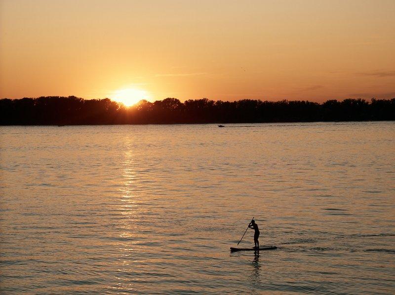 закат, река, лето ***photo preview