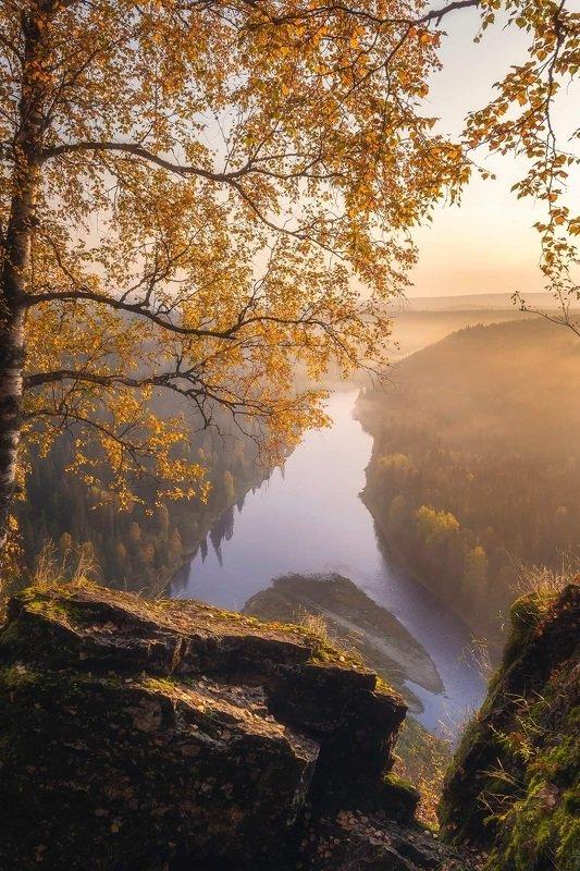 пермь, пермский край, пейзаж, осень, лес, река , усьва ,усьвинские столбы Окошко в осеньphoto preview