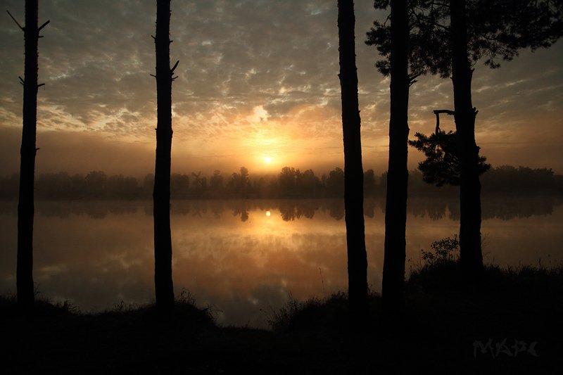 пейзаж  утро туман  река белая башкортостан Одно утро сентября.photo preview