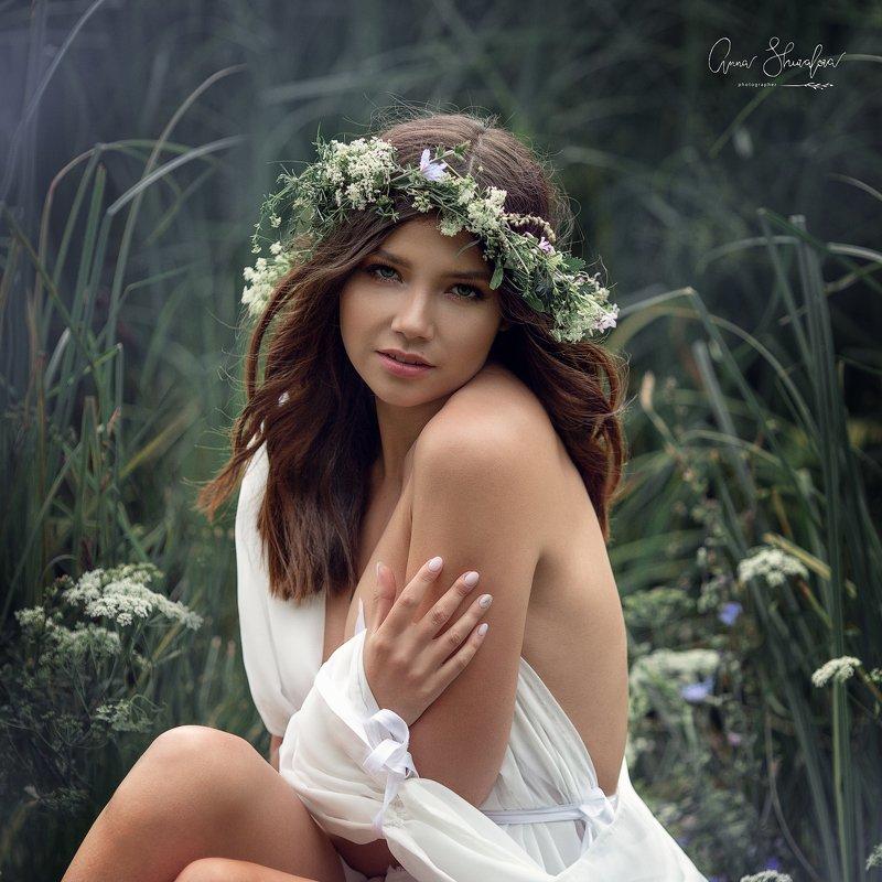 портрет красота девушка арт Нимфа фото превью