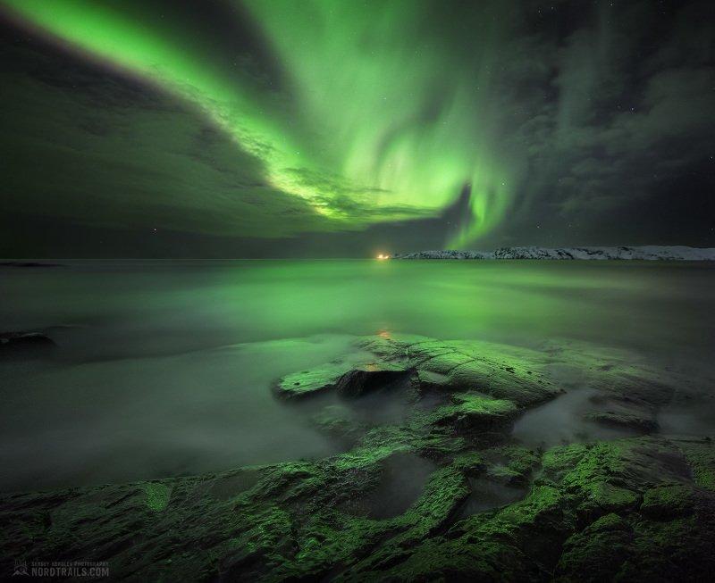 кольский, кольский полуостров, териберка, северное сияние, полярное сияние, север Ночные танцыphoto preview