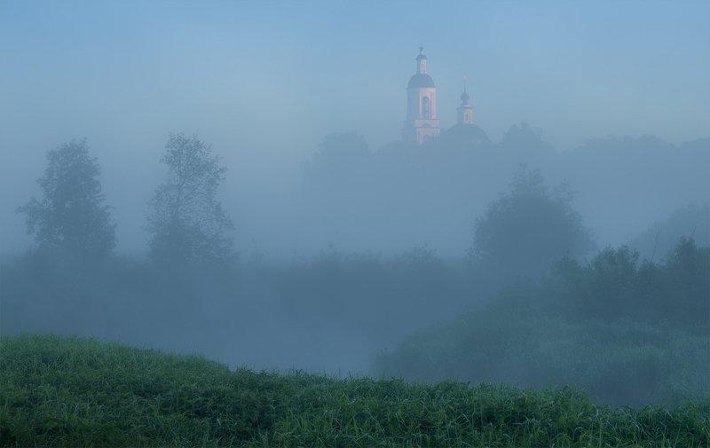 утро, рассвет, природа, туман, река Июньские туманыphoto preview