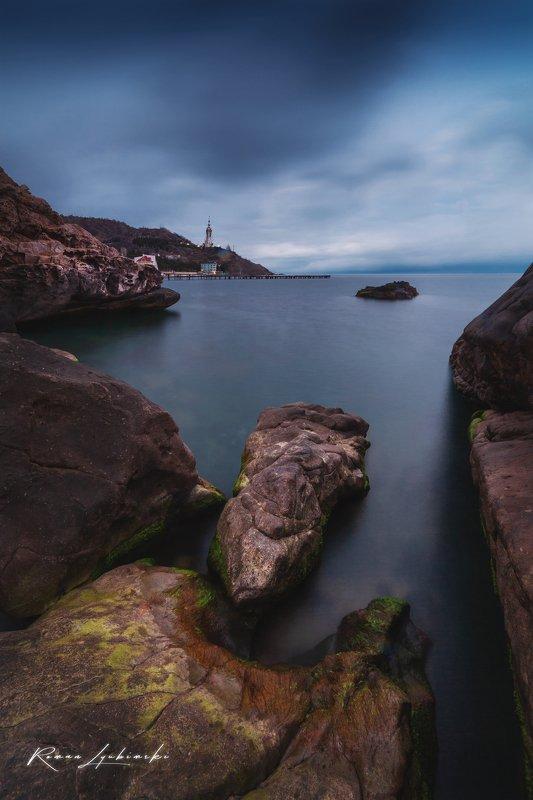 крым, вечер, море, пейзаж, роман любимский, малореченское, храм маяк Тузлухphoto preview