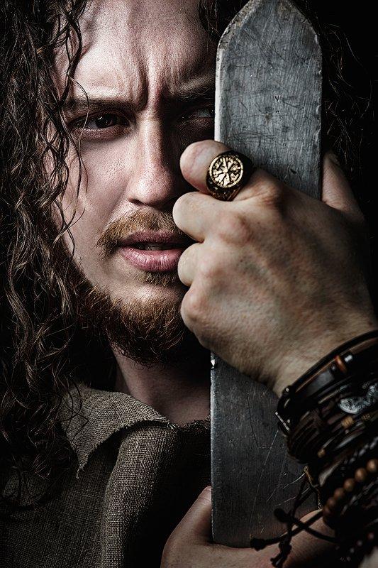 Слава, модель, меч, воин, постановка, кольцо, костюм, игра, война Славаphoto preview