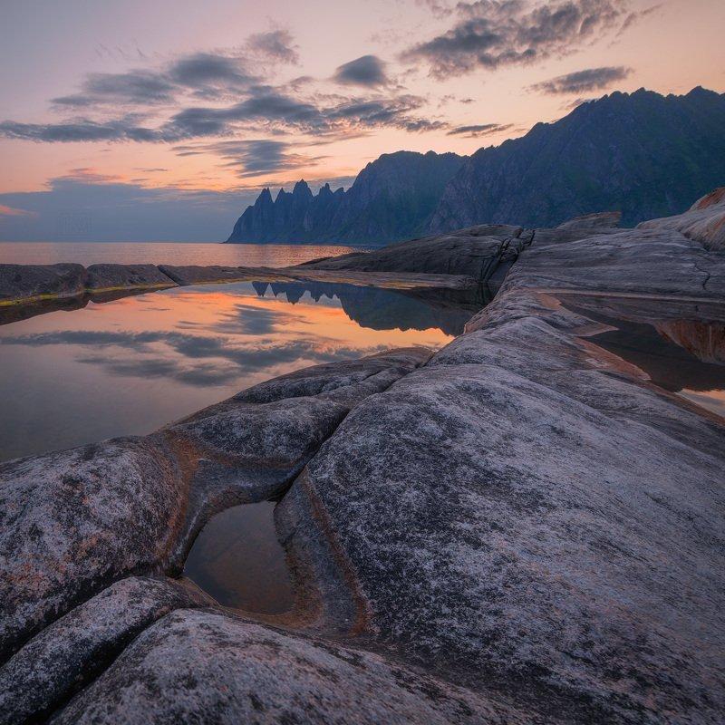 норвегия, сенья, senja, norway, рассвет, dawn, закат, полярный день, вечер Летний вечер в северных широтахphoto preview