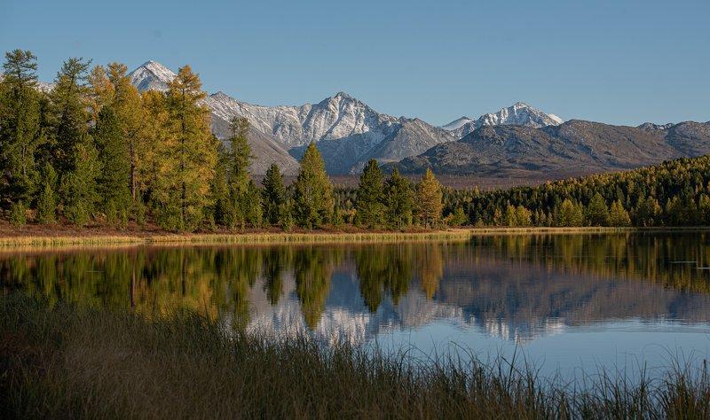 природа, Алтай, озеро, горы на закатеphoto preview