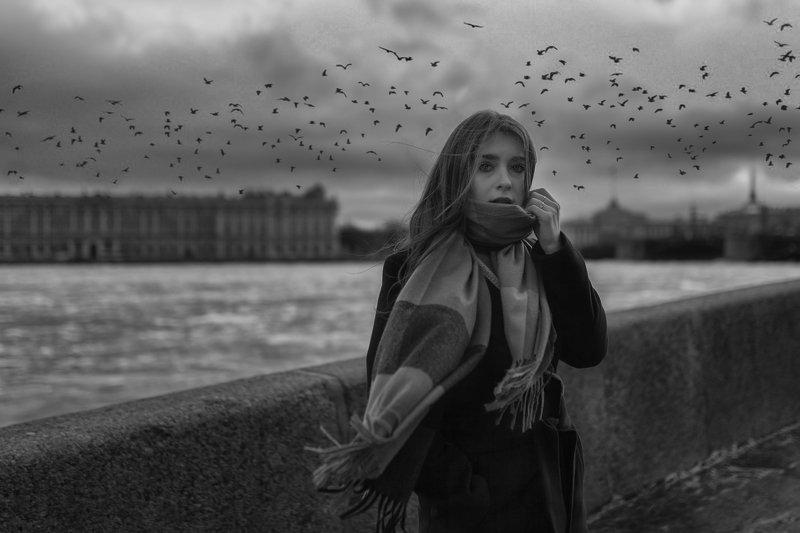 Санкт-Петербург, портрет, женский портрет, черно-белое, прогулка по Питеру Leraphoto preview