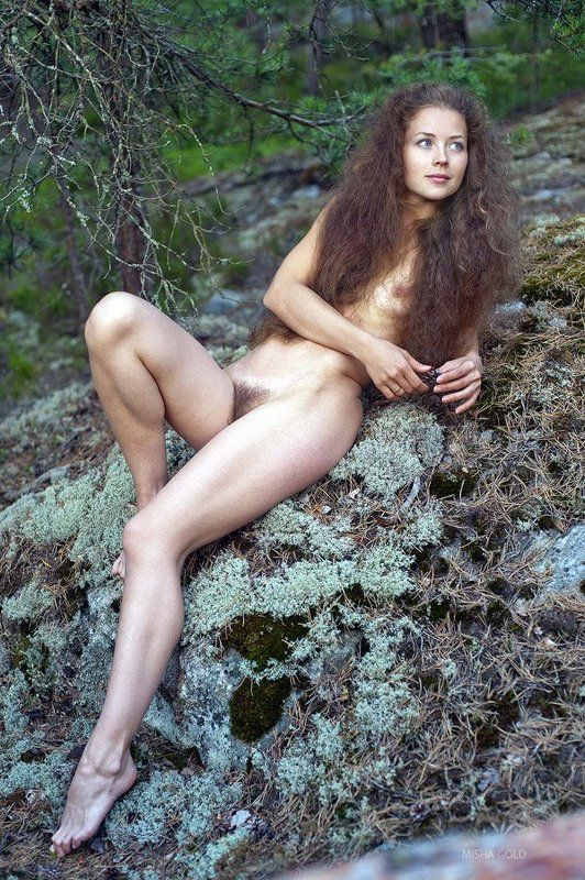 the, deep, forest, art, nude, misha, gold, flicka, guld The deep forestphoto preview