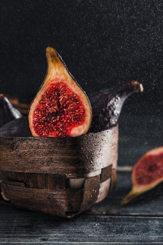 Инжир, еда, фрукты, dark, lowkey, fig naked Figphoto preview