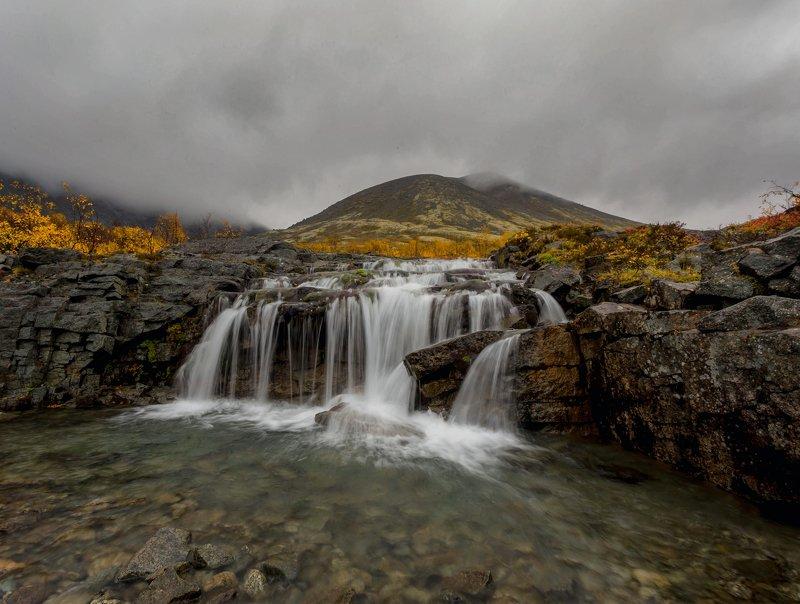 хибины, водопад, осень ,кольский Суровые Хибиныphoto preview