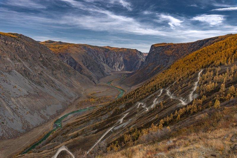 горный алтай, осень, горы, чулышман, кату-ярык Золото Маккенныphoto preview