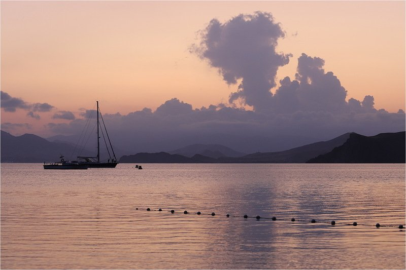 вечер, осень, сентябрь, море, отражение, крым, яхты, небо, закат, Крым.photo preview
