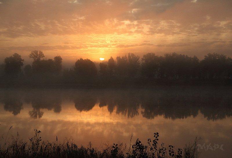 пейзаж  утро туман  река белая башкортостан Еще одно утро.photo preview
