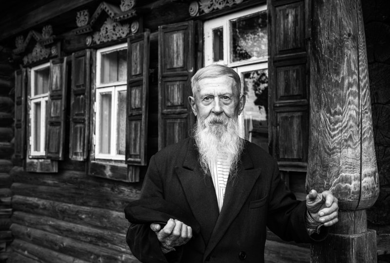 кержаки россия черно белое Богатый годами. Серия \