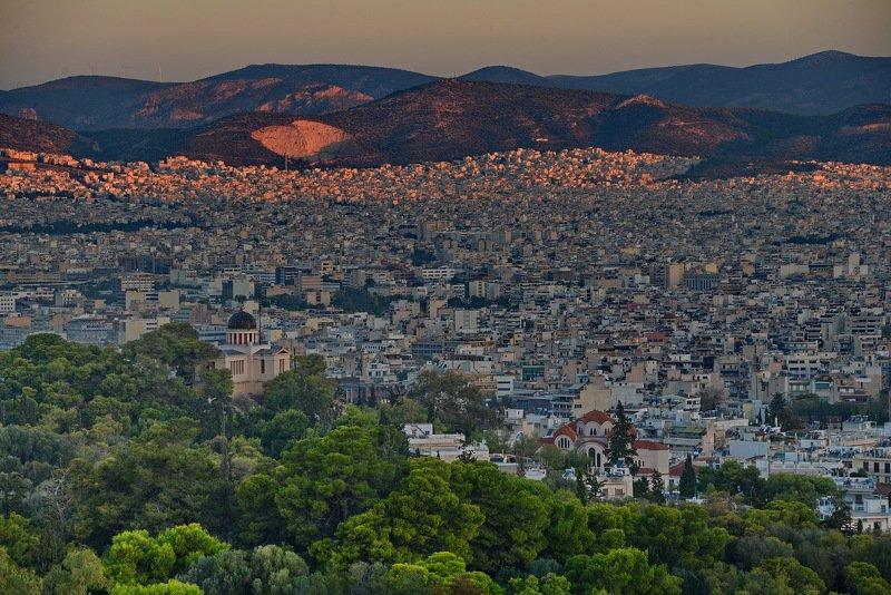 афины, вид с филопаппу, холм Афиныphoto preview