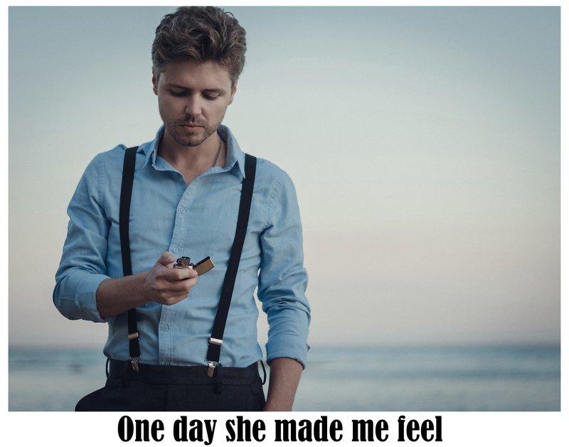 портрет, мужской портрет, чувства, эмоции, любовь, вечер, лето, пляж, керчь, крым, россия Waiting for my precious girl...photo preview