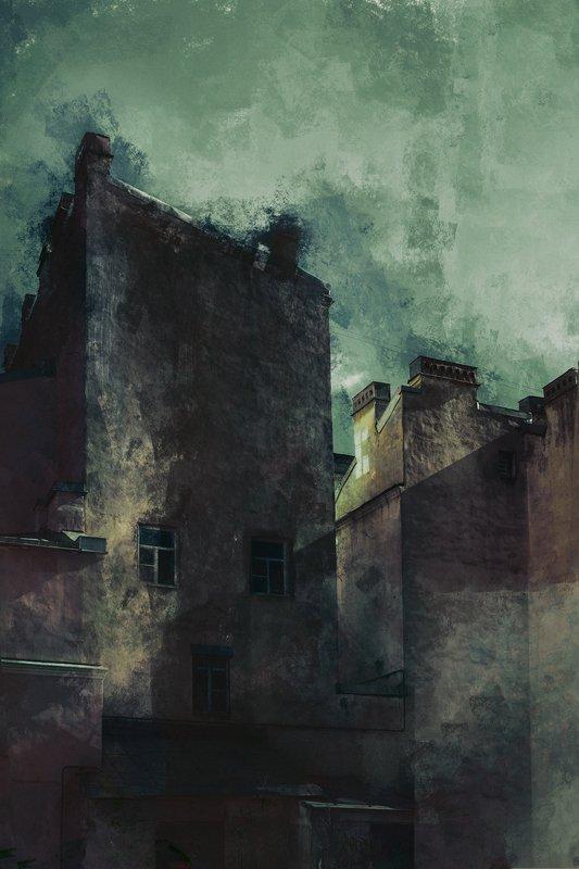 абстракция. город, санкт-петербург, художник, artist, abstraction art, saint-petersburg Питер (цифровые акварели)photo preview