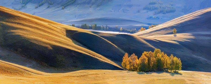 осень, горы, урал, панорама Урал осеннийphoto preview