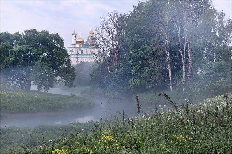 лето, утро, река, туман, монастырь, новый иерусалим, истра, Новый Иерусалим.photo preview