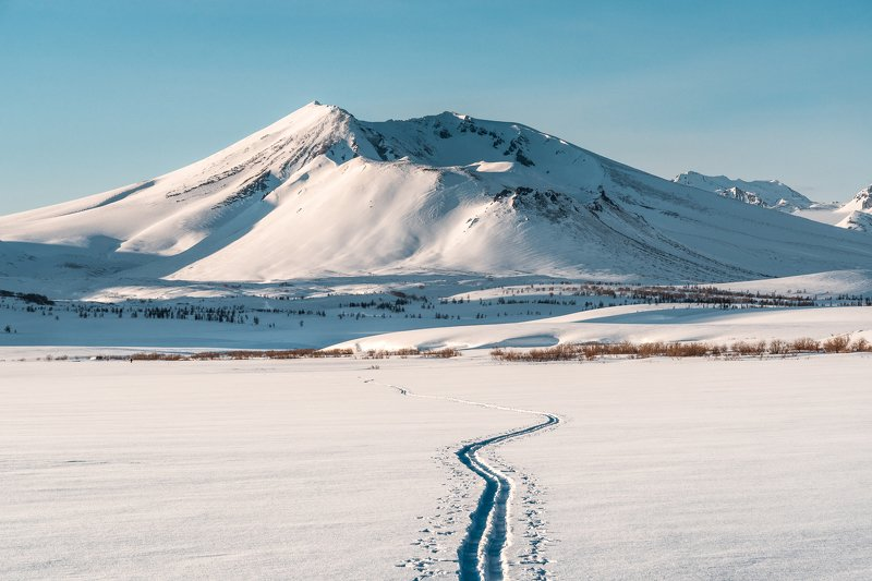 Камчатка, Сторож, зима, вулкан Кальдера.photo preview