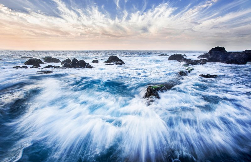 Атлантический океан, тенерифе, волны, океан, остров, вода, Атлантика, Канары Зов Океанаphoto preview
