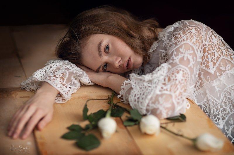 портрет красота девушка арт времяphoto preview