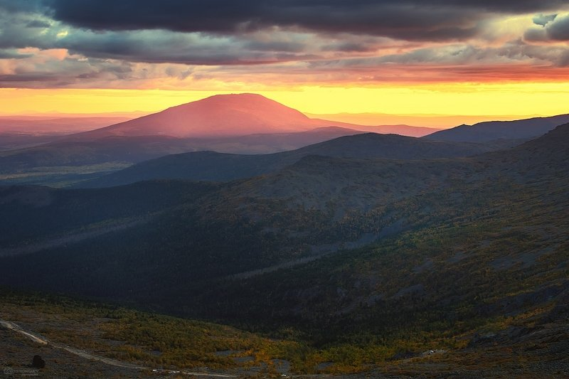 Вечер на Серебрянском камне, Северный Уралphoto preview