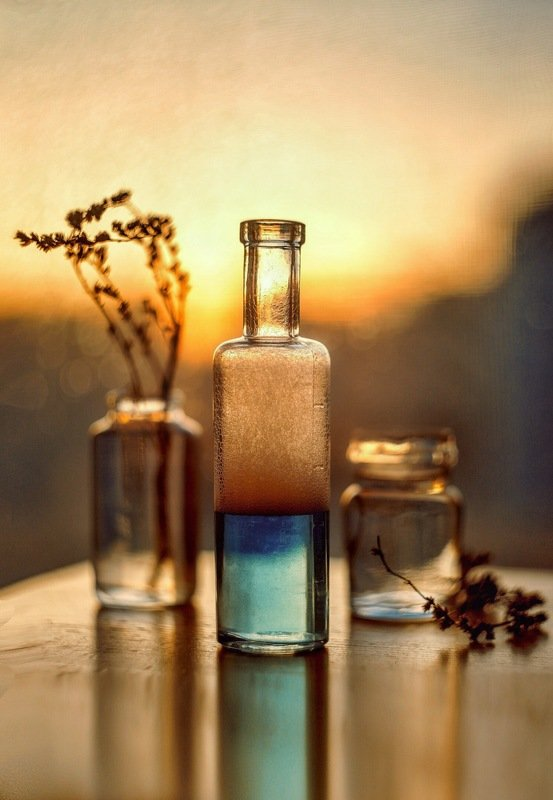 Sunset in the glass...photo preview
