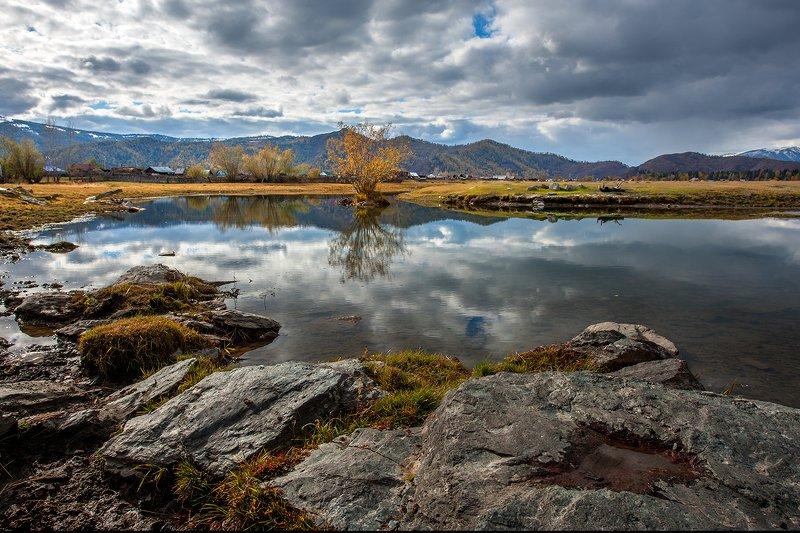 горный алтай Осень у Верхнего Уймонаphoto preview