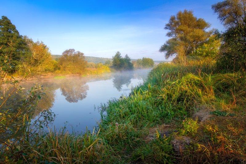 пейзаж, донец, река, утро, туман, дымка Утро на Донцеphoto preview