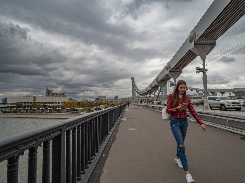 Зарисовка на Крымском мостуphoto preview
