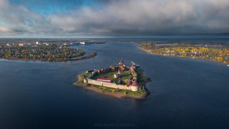 крепость орешек, нотебург, аэросъемка, остров, нева, ладога Крепость Орешек (Нотебург)photo preview