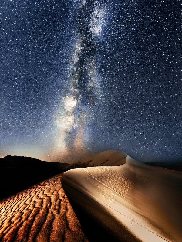 Дагестан, Сарыкум, бархан, дюна, млечный путь, пустыня, пески, песок, гребень Бархан Сарыкум photo preview
