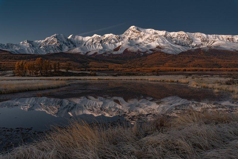 джангысколь, осень, горный алтай, северо-чуйский хребет Рассвет над Джангысколем-2photo preview