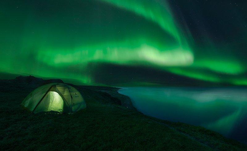 Aurora Borealis, Кольский  полуостров, Белое море White seaphoto preview