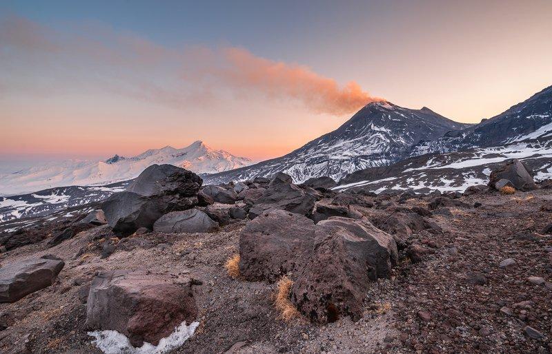 камчатка, безымянный, вулкан, зима, горы Зимний вулканphoto preview