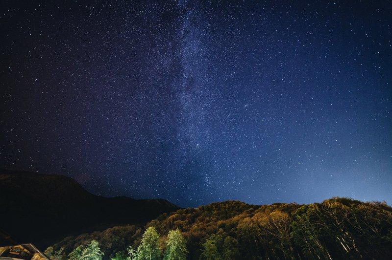 млечный путь, сочи Небо над Красной Полянойphoto preview